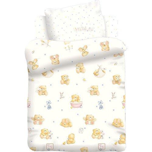 Детское постельное белье Маленькие мишки (поплин)