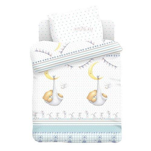Детское постельное белье Спящий медвежонок (поплин)