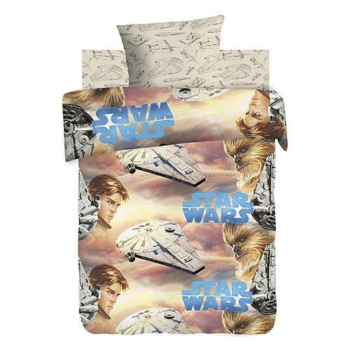 Детское постельное белье Star Wars Neon Хан Соло и Чуи (поплин)