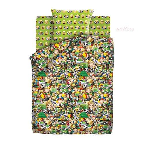 Детское постельное белье Emoji Футбол (бязь-люкс)