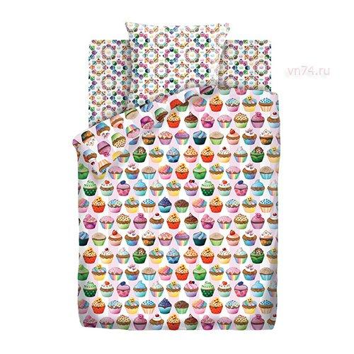 Детское постельное белье Emoji Капкейк (бязь-люкс)