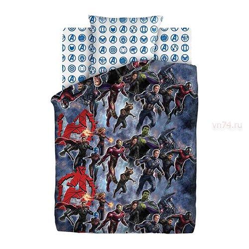 Детское постельное белье Мстители Neon На страже (бязь-люкс)