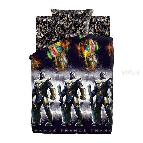 Детское постельное белье Мстители Neon Танос (бязь-люкс)