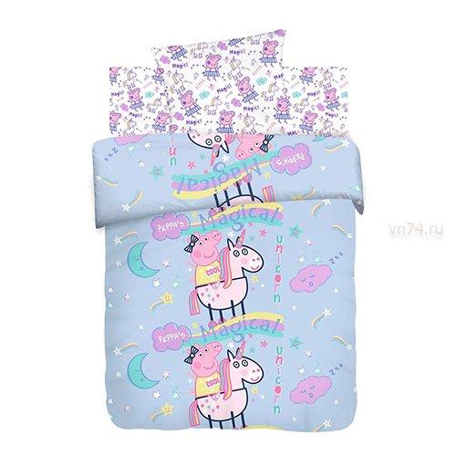 Детское постельное белье Свинка Пеппа Волшебный сон (бязь-люкс)