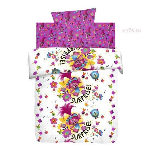 Детское постельное белье Trolls Принцесса Розочка (бязь-люкс)
