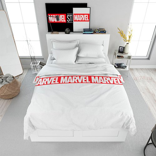 Постельное белье Мстители White Marvel (поплин)
