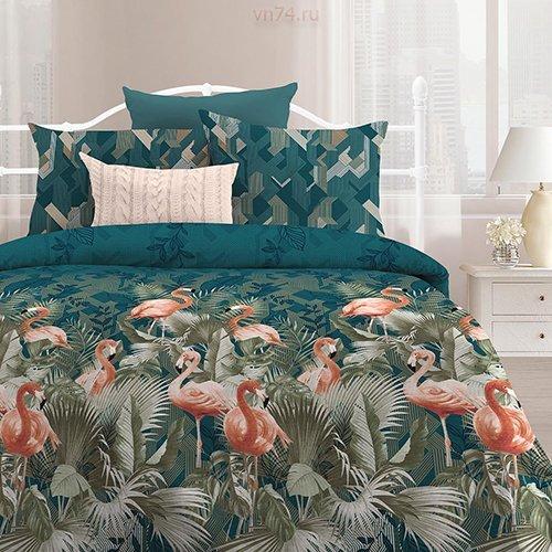 Постельное белье Любимый дом Фламинго (бязь-гост)