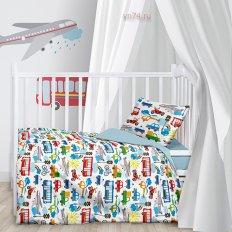 Детское постельное белье Juno Городское движение (поплин)