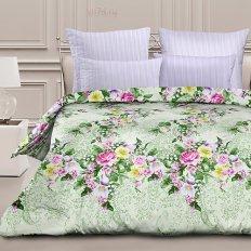 Постельное белье Романтика с резинкой на простыне Цветущий сад (перкаль)