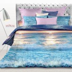 Постельное белье Serenity Голубая лагуна (перкаль)