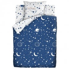 Детское постельное белье Juno Neon Космос (поплин)