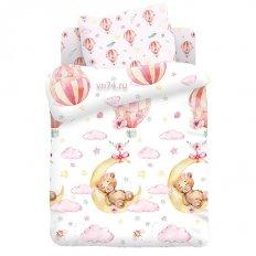 Детское постельное белье Juno Сонная мишка-девочка (поплин)