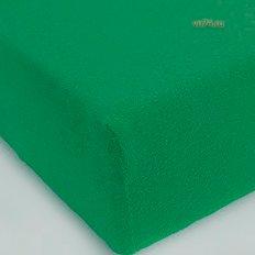 Простыня на резинке трикотажная сине-зеленый (хлопок)