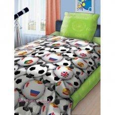 Детское постельное белье Футбольные мячи (бязь-люкс)