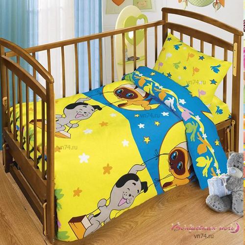 Детское постельное белье Лунные качели (бязь-люкс)