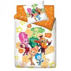 Детское постельное белье Фиксики Семья 3 (поплин)