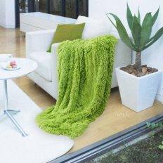 Плед из меха Trendy green