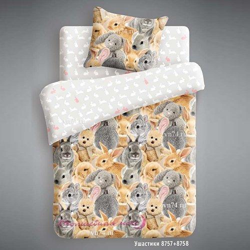 Детское постельное белье Ушастики (бязь-люкс)