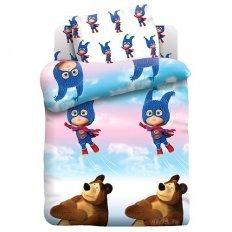 Детское постельное белье Маша супергерой (бязь-люкс)