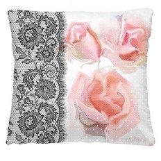 Подушка декоративная 40 x 40 Ажурные розы