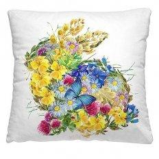 Подушка декоративная 40 x 40 Цветочный заяц