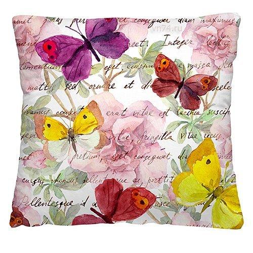 Подушка декоративная 40 x 40 Пёстрые бабочки