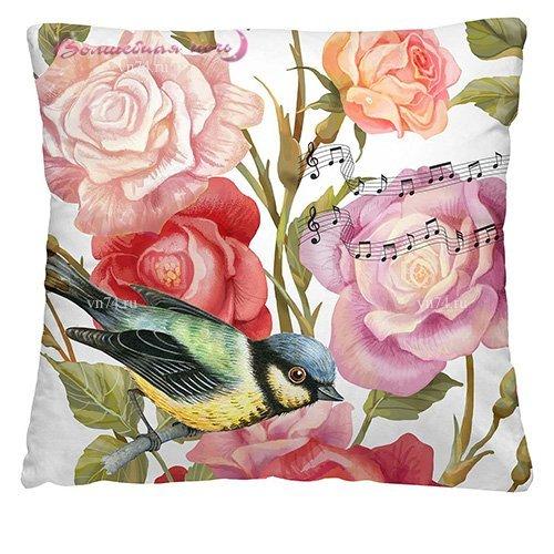 Подушка декоративная 40 x 40 Птица дивная