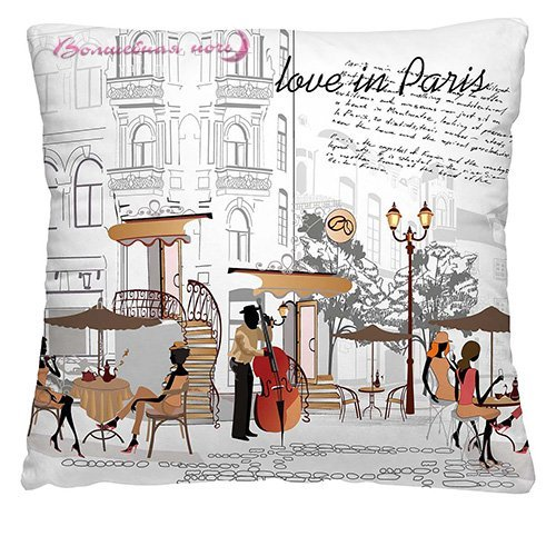 Подушка декоративная 40 x 40 С любовью из Парижа