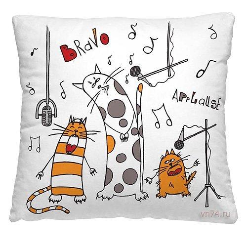 Подушка декоративная 40 x 40 Весёлые коты