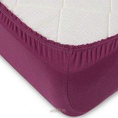 Простыня на резинке трикотажная фиолетовая (хлопок)
