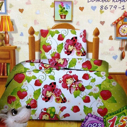 Детское постельное белье Кошки-мышки Божья коровка (бязь-гост)