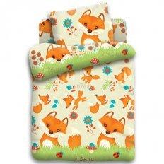 Детское постельное белье Кошки-мышки Лисята (бязь-гост)
