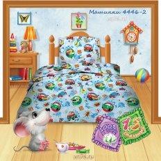 Детское постельное белье Кошки-мышки Машинки (бязь-гост)