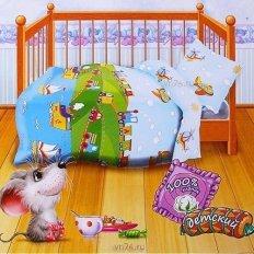 Детское постельное белье Веселая поездка (бязь-люкс)