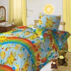 Детское постельное белье Кошки-мышки Веселый счет (бязь-гост)