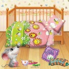 Детское постельное белье Пчелки (бязь-люкс)