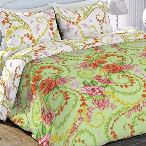 Постельное белье Любимый дом Цветочный Вальс (бязь-гост)