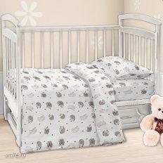Детское постельное белье Ёжики (бязь-люкс)
