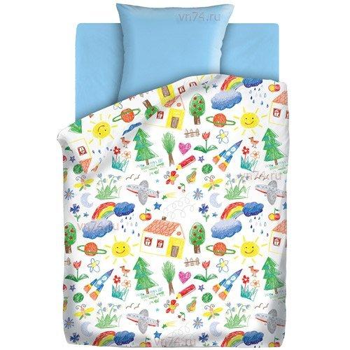Детское постельное белье Непоседа Радуга (бязь-люкс)