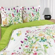 Постельное белье Поэтика с резинкой на простыне Луговые цветы (поплин)