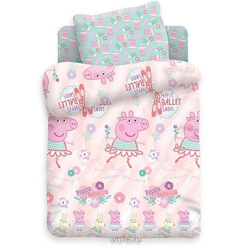 Детское постельное белье Свинка Пеппа балерина Пеппа (бязь-люкс)