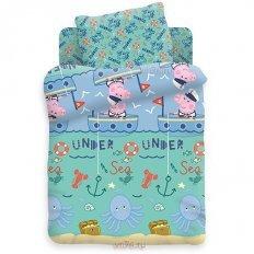 Детское постельное белье Свинка Пеппа Джордж рыбак (бязь-люкс)
