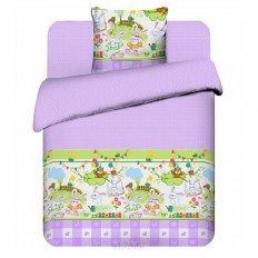 Детское постельное белье Бэби Зайка-огородник (бязь-люкс)