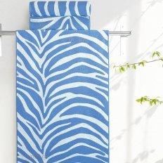 Полотенце махровое Aquarelle Мадагаскар зебра синий