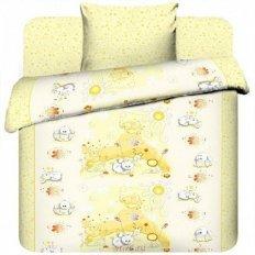Детское постельное белье Бэби Плюшевые зайки вид 3 (бязь-люкс)