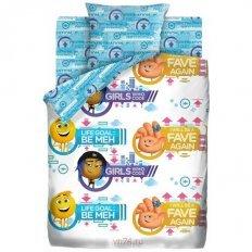 Детское постельное белье Emoji movie Эмоджи Стайл (бязь-люкс)
