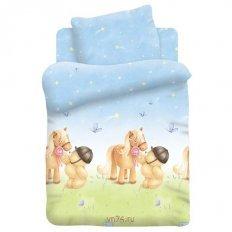 Детское постельное белье Мишка и Пони вид 2 (поплин)