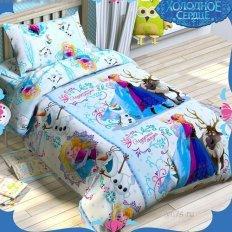 Детское постельное белье Disney Сказка Холодное сердце (бязь-люкс)