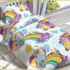 Детское постельное белье Jetelka Радужные пони (бязь-люкс)