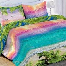 Постельное белье 3D Любимый дом Лазурный океан (бязь-гост)